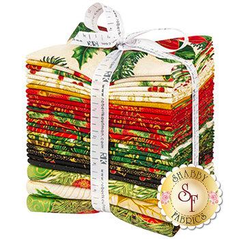 Holiday Flourish 13  23 FQ Set + 3 Panels by Robert Kaufman Fabrics
