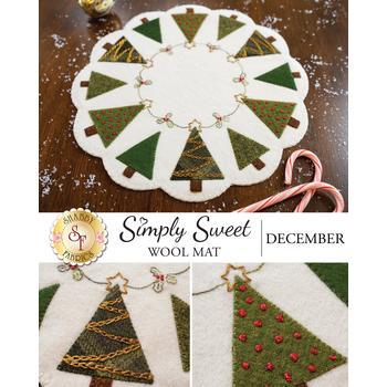 Simply Sweet Mats - December - Wool Kit
