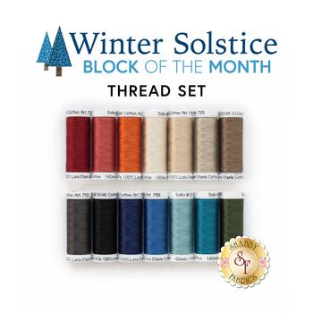 Winter Solstice Quilt - 14pc Sulky Cotton Thread Set