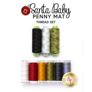 Santa Baby Penny Mat - 9pc Thread Set