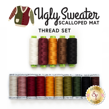 Ugly Sweater Scalloped Mat - 15pc Thread Set