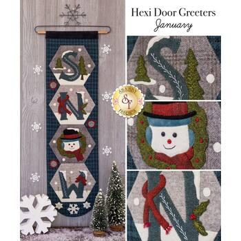 Hexi Door Greeters - January - Wool Kit