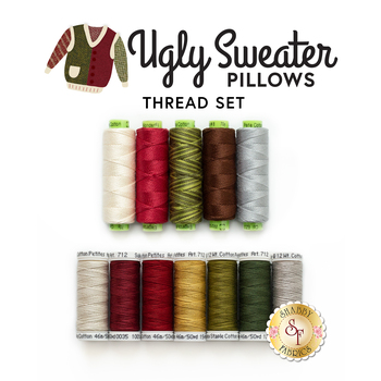 Ugly Sweater Pillows - 12 pc Thread Set