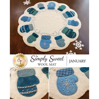 Simply Sweet Mats - January - Wool Kit