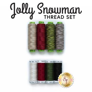 Jolly Snowman Wall Hanging - 8pc Thread Set