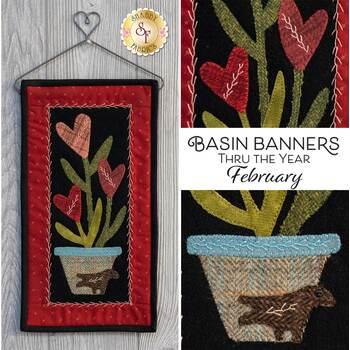 Basin Banners Thru The Year - February - Wool Kit
