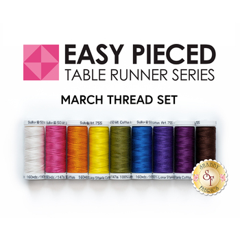 Easy Pieced Table Runner Series - March - Thread Set