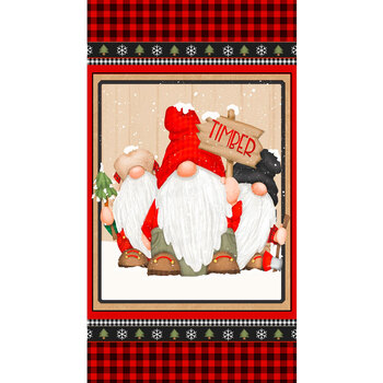 Flannel Gnomies F9277P-89 Multi by Shelly Comiskey for Henry Glass Fabrics