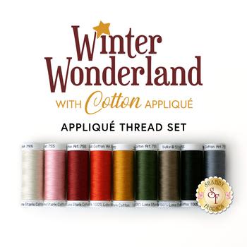 Winter Wonderland Quilt - Laser Cut - 9pc Sulky Cotton Applique Thread Set