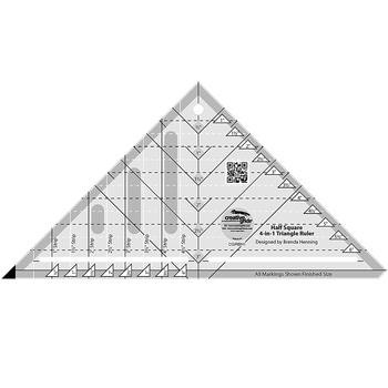 Creative Grids Half Square 4-in-1 Triangle Ruler #CGRBH1