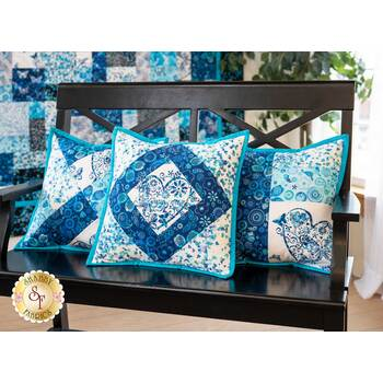 Quilt As You Go Pillow Covers Kit - Social Butterfly