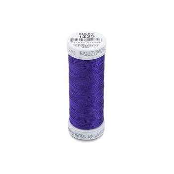 Sulky 40 wt Rayon Thread #1235 Deep Purple - 250 yds