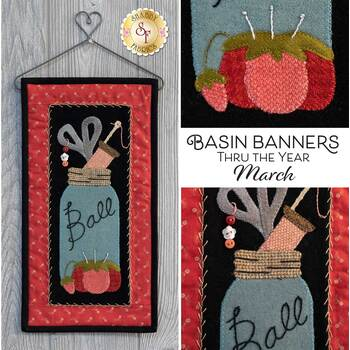 Basin Banners Thru The Year - March - Wool Kit