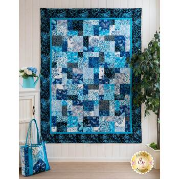 Easy As ABC and 123 - Social Butterfly Quilt Kit