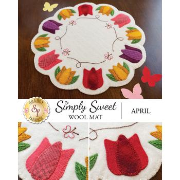 Simply Sweet Mats - April - Wool Kit