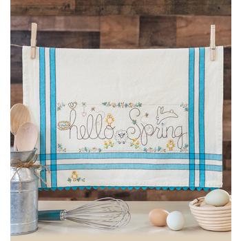 Vintage Kitchen Towel Kit - March - Hello Spring