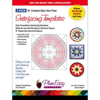 Folded Star Hot Pad Interfacing Template - 3pk - 8