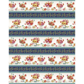 Roots of Love 86479-148 Large Repeating Stripe Multi by Lisa Audit for Wilmington Prints