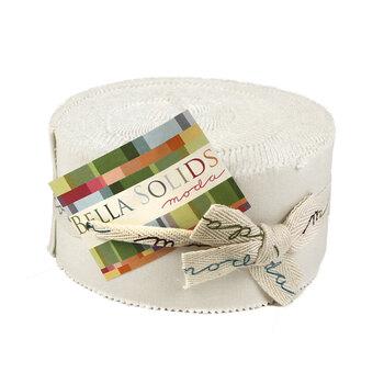 Bella Solids  Jelly Roll 9900-98 - White by Moda Fabrics