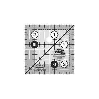 "Creative Grids 2-1/2"" Square Quilt Ruler #CGR2"