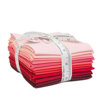 Bella Solids  12 FQ Set - Red by Moda Fabrics
