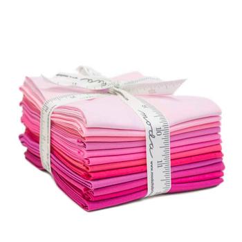 Bella Solids  12 FQ Set - Pink by Moda Fabrics