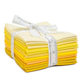 Bella Solids  12 FQ Set - Yellow by Moda Fabrics