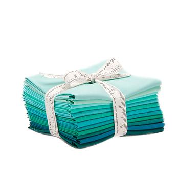 Bella Solids  12 FQ Set - Teal by Moda Fabrics
