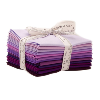 Bella Solids  12 FQ Set - Purple by Moda Fabrics