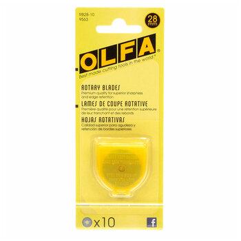 Olfa 28mm Rotary Blades - 10 count