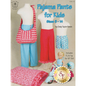 Pajama Pants For Kids - Size 5-14 - Pattern