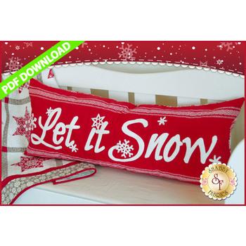Let It Snow Pillow Pattern - PDF Download