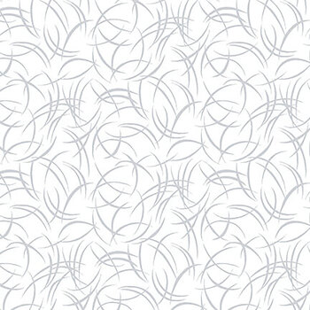 Quilter's Flour II 9425-01W White on White Brushstroke by Henry Glass Fabrics