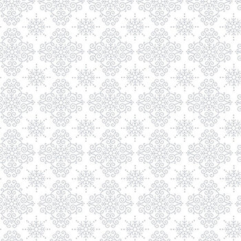 Quilter's Flour II 9427-01W White on White Lacey Geometric by Henry Glass Fabrics