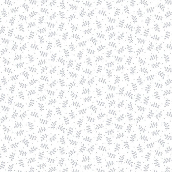 Quilter's Flour II 9430-01W White on White Bud Vines by Henry Glass Fabrics