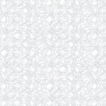Quilter's Flour II 9433-01W White on White Scribble Lines by Henry Glass Fabrics