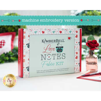 Love Notes Mystery Quilt Kit - Machine Embroidery Version