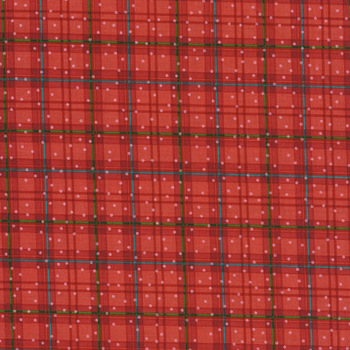 Better Not Pout 10175-10 Winter Plaid Red by Nancy Halvorsen for Benartex Fabrics