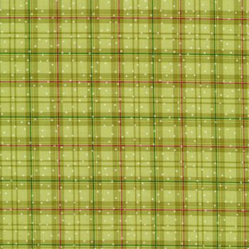 Better Not Pout 10175-46 Winter Plaid Olive by Nancy Halvorsen for Benartex Fabrics