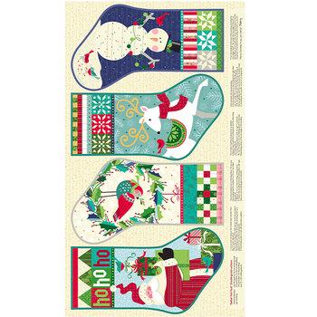 Better Not Pout 10168-99 He's Making A List Panel Multi by Nancy Halvorsen for Benartex Fabrics