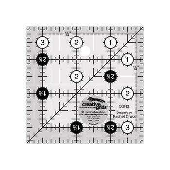 "Creative Grids 3-1/2"" Square Quilt Ruler #CGR3"