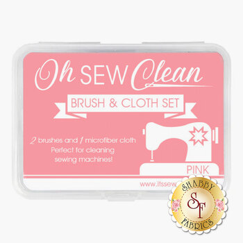 Oh Sew Clean - Brush & Cloth Set - Pink