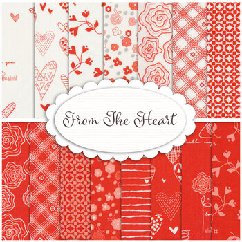 From the Heart  15 FQ Set by Riley Blake Designs