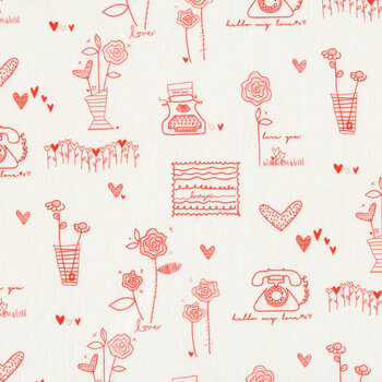 From the Heart C10050-Cream Sentiments by Riley Blake Designs