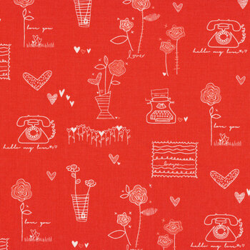 From the Heart C10050-Red Sentiments by Riley Blake Designs