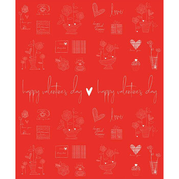 From the Heart C10058-Red Valentine Sentiments by Riley Blake Designs