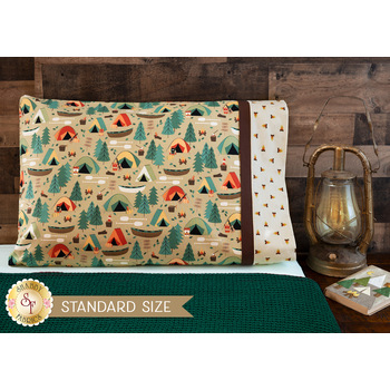 Magic Pillowcase Kit - Camping Crew - Standard Size - Tan