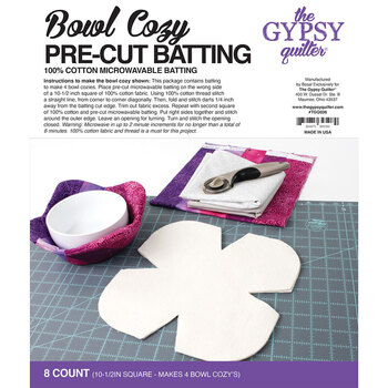 Bowl Cozy Pre Cut Batting - 8ct by The Gypsy Quilter