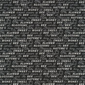 Bee Grateful 19963-15 Ebony by Deb Strain for Moda Fabrics