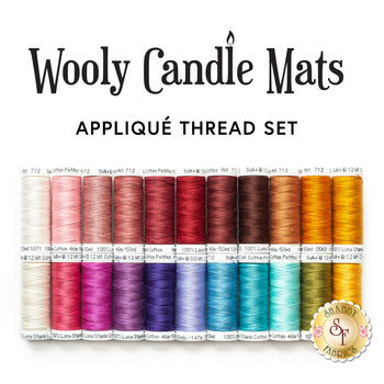 Wooly Candle Mat Club - 22pc Applique Thread Set